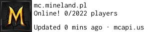 Status sieci serwerów minecraft - Mineland Polska 1.13.2